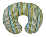 Baby / Child Versatile Boppy Cotton Polyester Stretchable C-Shaped Nursing Pillow With Slipcover - Leafy Stripe Infant