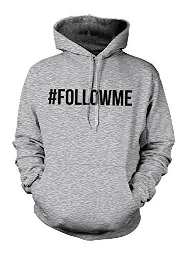 Hashtag Follow Me FOLLOWME Felpa con cappuccio Grigio XX-Large