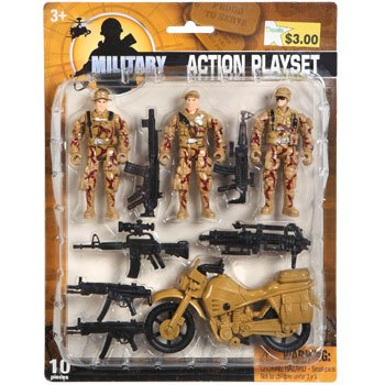 Military Action Playset 10 pc