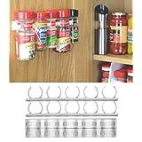 Organizer Rack 20 Cabinet Door Spice Clips – Just $8.98!