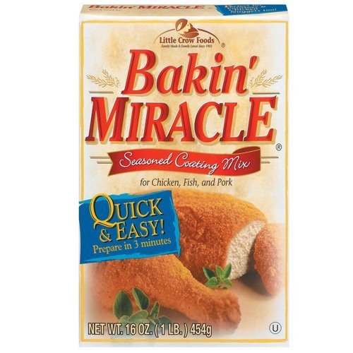 Baking Miracle Seasoned Coating 16 Oz - For Chicken, Fish, And Pork (3 Pack)