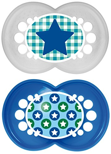 MAM Trends Silicone Pacifier, Blue, 6 Plus Months - 1