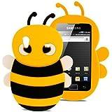 Jaune 3D abeille Étui Coque Housse En Silicone pour Samsung Galaxy Ace S5830 5830i
