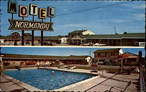 Normandy Motel Saint Ignace, Michigan Original Vintage Postcard