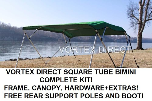 NEW GREEN SQUARE TUBE FRAME VORTEX 4 BOW PONTOON/DECK