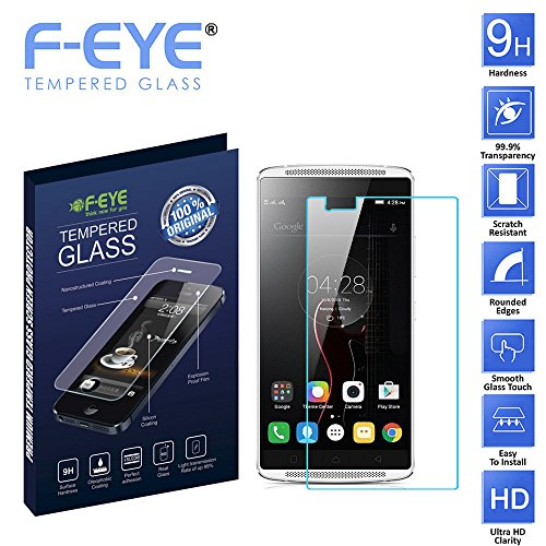 F-EYE® Lenovo Vibe X3 Tempered Glass, Ultra Clear Screen Protectors, 2.5D Round Edge - 0.33mm Thickness 9H Hardness, Made From Real Tempered Glass, Shatterproof, Anti-Scratch Bubble-free, Oleophobic Coating, Safety Packing And Easy To Install In Your Phone (Lenovo Vibe X3)