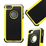 Cocoz® Yellow&black Hard Soft High Impact Armor Case Cover for Apple Iphone 5 - At&t Verizon Sprint Dust Stylus-hot (Yellow,iphone 5 Case)-fs00275 at Amazon.com