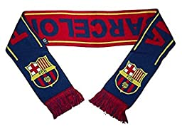 Barcelona FC Woven Team Scarf 2014-15 (Maroon/Navy/Yellow)