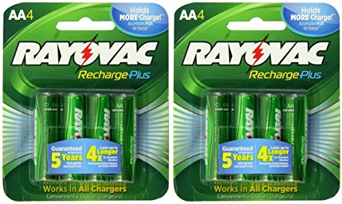 8-rayovac-aa-recharge-plus-high-capacity-rechargeable-2400-mah-nimh-pre-charged-batteries-2-x-4-pack