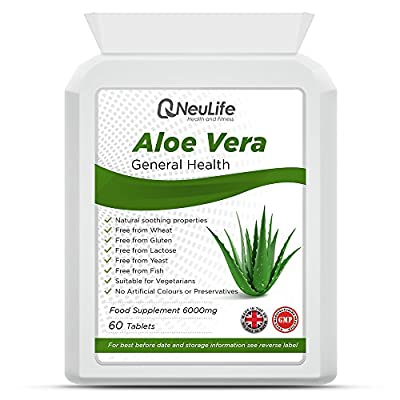 Aloe Vera 6000mg - 60 Tablets - by Neulife Health and Fitness by Neulife Health and Fitness