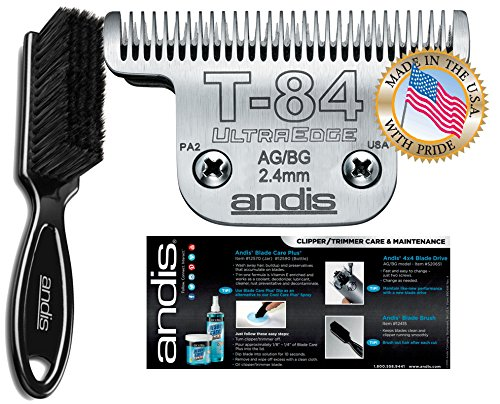 Andis Equine UltraEdge T-84 Extra Wide Horse Blade for Detachable Blade Clippers Leaves Hairs 3/32