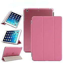 Elite Ultra Thin Smart Flip Foldable Flip Case cover Apple iPad Air 2 (iPad 6) Tablet with Glittering stylus (Sleep/wakeup) (Pink)