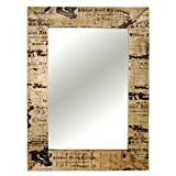 The Attic Printed Wood Mirror Frame