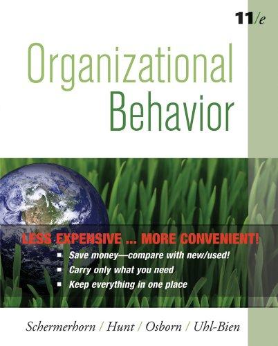 Organizational Behavior, Eleventh  Edition Binder Ready Version