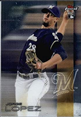 2016 Finest #98 Jorge Lopez Milwaukee Brewers RC Baseball Rookie Card