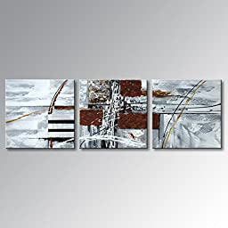 Winpeak Art Handmade Special Design Abstract Oil Painting Modern Canvas Wall Art Contemporary Acrylic Decor Picture Hanging Framed And Stretched (60\