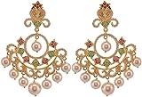 Violet & Purple Gold Plated Dangle & Drop Earrings For Women (1000031045)