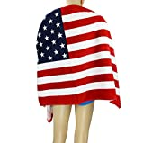 Greenery large size 140cm x 70cm Pure Cotton Soft and Absorbant Beach Towel Bath Towel Great for Sports, Swim, Pool ,Spa and Sauna-- USA Flag