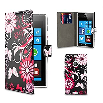5. 32nd® Design book wallet PU leather case cover for Nokia Lumia 1520, including screen protector and cleaning cloth