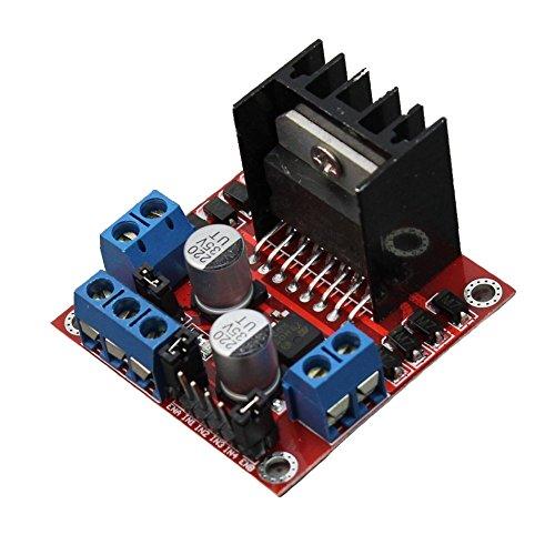 Honbay L298N Motor Drive Controller Board DC Dual H-Bridge Robot Stepper Motor Control & Drives Module for Arduino Smart Car Power UNO MEGA R3 Mega2560 Duemilanove Nano Robo (Robot Dc Motor compare prices)
