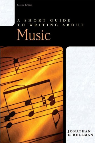 A Short Guide to Writing about Music (2nd Edition)