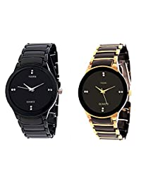 Veens Analogue Black Dial Watch Combo (Pack Of 2) For Men- 1117