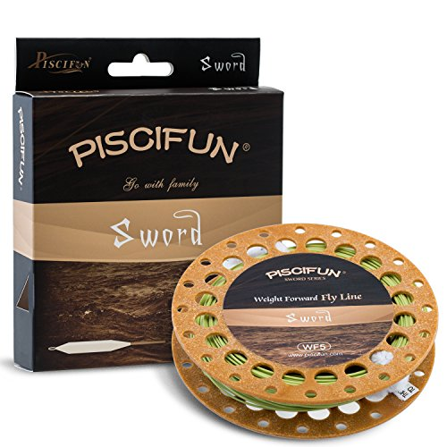 Piscifun Sword Weight Forward Floating Fly Fishing Line with Welded Loop WF5wt 100FT Moss Green (Fishing Fly Line compare prices)