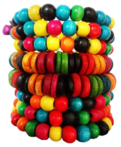 SUVI'S Multi Beaded Bracelet for Women (multicolor)