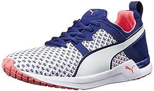 PUMA Women's Pulse XT Geo Training Shoe, White/Blueprint, 8.5 B US