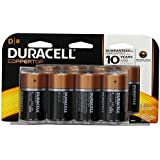 Duracell Dx8 Coppertop D alkaline Batteries, 8 Count (Pack of 2)