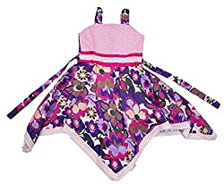 KILKARI SQUARE CUT HEM FROCK PURPLE7-8 YRS