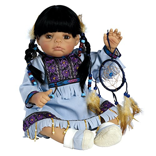 Paradise Galleries Native American Indian Baby Doll - Dream Catcher, 20 inches in GentleTouch Vinyl