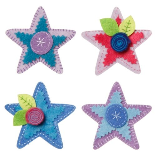 WeGlow International Felt Embellishment Purple and More Stars, Set of 8