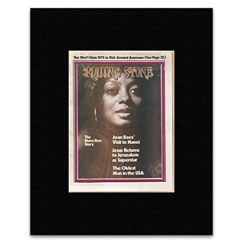 Rolling Stone - Diana Ross 1973 Matted Mini Poster - 19.3X15.9Cm