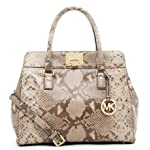 Michael Michael Kors Large Astrid Python Embossed Satchel