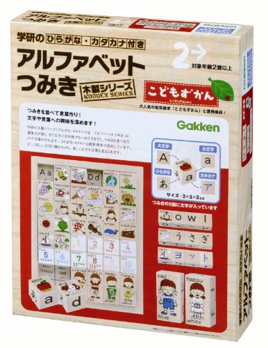 Wooden-Hiragana-Katakana-series-with-alphabet-blocks-japan-import-by-Gakken