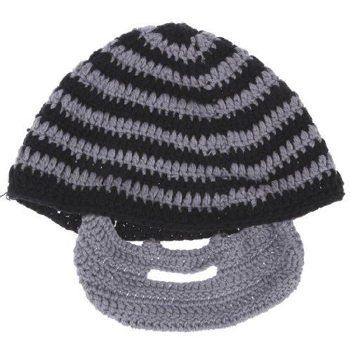 EOZY Hecho A Mano De Punto Caliente Del Invierno Bigote Cara Máscara Esquí Sombrero Regalo De La Navidad (#3Gris)