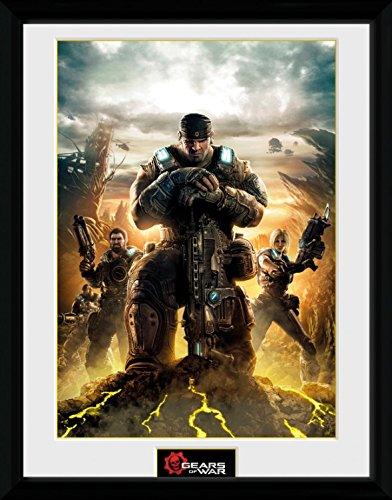 Gears Of War - 4, Gears Poster Da Collezione Incorniciato (40 x 30cm)