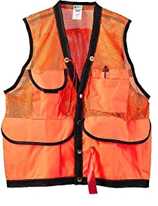 JIM-GEM® 8-Pocket Nylon Mesh Cruiser Vest Orange Large