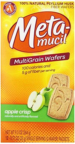 Metamucil Apple Crisp Fiber Wafers 12 Count, 9.3 Oz Box (Pack Of 3)
