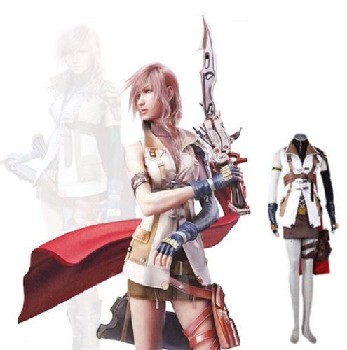 Final Fantasy XIII Lightning Cosplay Costume (L) Great X'MAS Christmas Gift