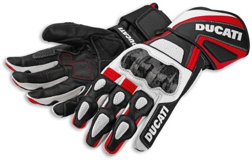 Ducati 2014 Performance Leather Glove by Spidi Red Black White Size XX-Large