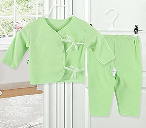 [icekon Comfortable Cotton Lacing Underwear 2 Piece Suits for Baby Green L Size] (Agent Carter Halloween Costume)