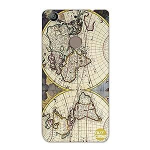 Designer Le Eco 1s Case Cover Nutcase-Old Vintage Maps Of The Globe
