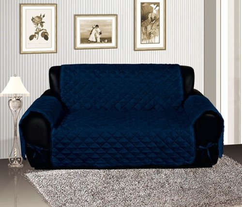 Bednlinens Navy Blue Micro Suede Sofa Slipcover Protector