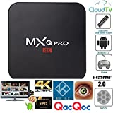 QacQoc MXQ Pro Android TV Box Amlogic S905 Chipset Kodi 15.2 Full Loaded Android 5.1 Lollipop OS TV Box Quad Core 1G/8G 4K Google Streaming Media Players with WiFi HDMI DLNA