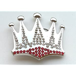 Silver Crown with Rhinestones & Bling Bling Belt Buckle
