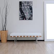 Awe Inspiring On Sale Andalucia 50 Inch Modern White Leather Bench Ocoug Best Dining Table And Chair Ideas Images Ocougorg
