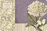Legacy of Faith Reversible Paper Placemats with Scripture, 25-Count Pad, Peony and White Butterfly