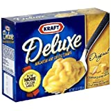 Kraft Macaroni & Cheese Deluxe Dinner,  Original Cheddar, 14-Ounce Boxes (Pack of 8)